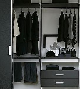 Aménagement d'une pièce dressing