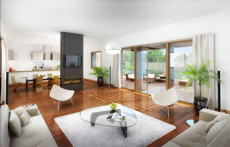 Un intérieur de maison bien aménagé
