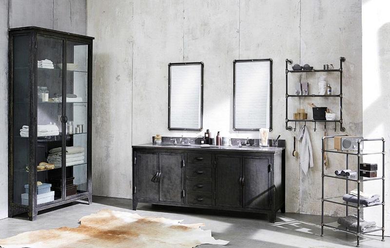 Une salle de bain agréable et fonctionnelle